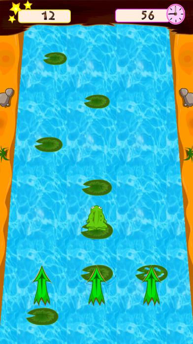 青蛙跳跃。