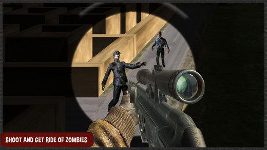 僵尸生存枪射击 - 狙击手在黑暗的骑士