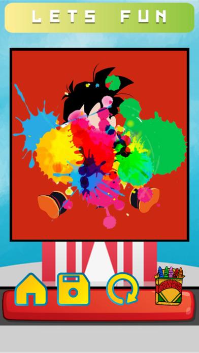 卡通着色页的龙珠Z版