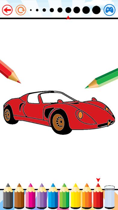 超级汽车着色书 - 孩子的车图纸