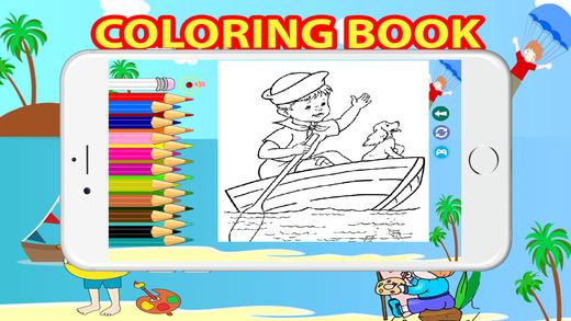 小孩著色書兒童小孩