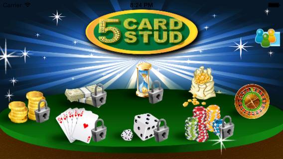 五张牌梭哈 - 免费直扑克游戏