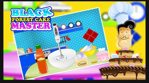 黑森林蛋糕师傅 - 做巧克力蛋糕在这个面包店游戏的孩子