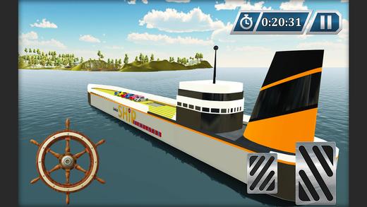 汽车运输船游轮和航行模拟器