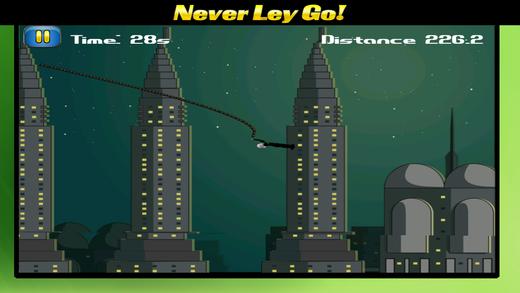 有趣的飞行游戏 最好的免费绳秋千游戏 顶跳跃的孩子