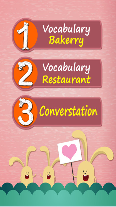 学英语:词汇 - 基本:免费学习教育游戏的孩子:食物: