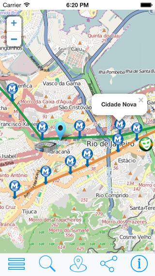 里约地铁  地图交通 - 里约热内卢离线地图