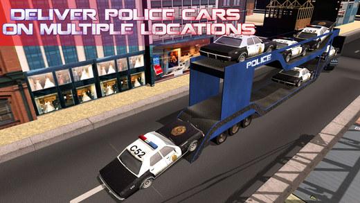 警车转运卡车 - 驾驶货车及交付车辆的警察