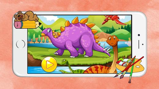 Coloring book 恐龙世界 恐龙拼图 恐龙游戏