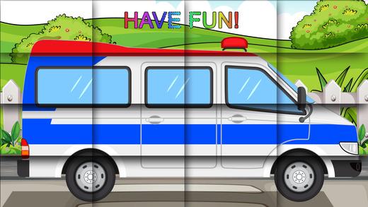 车辆益智游戏为孩子们