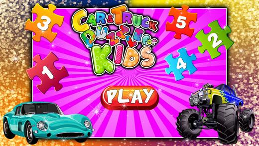 汽车和卡车拼图的孩子 - 教育游戏
