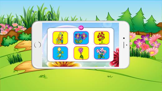 免费彩色书(花),着色页和有趣的教育学习游戏的孩子!