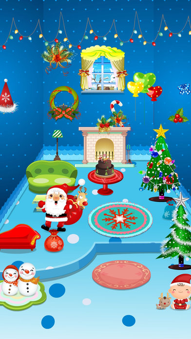 公主设计可爱圣诞节娃娃屋