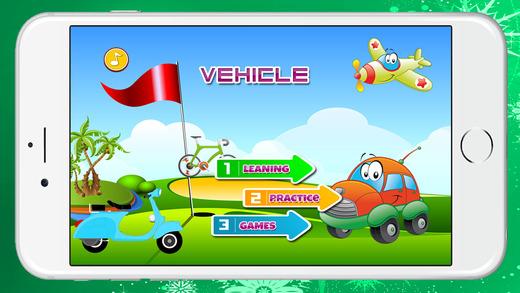 車輛學習詞彙的孩子