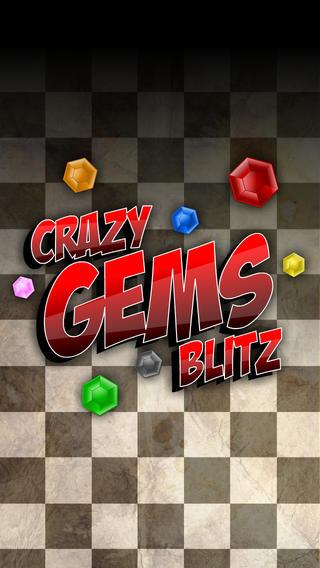 瘋狂寶石突擊 — — 匹配三多人遊戲社會連接的益智遊戲 ( Crazy Gems Blitz  – Match Three  Multiplayer Social Connecting Puzzle Game )