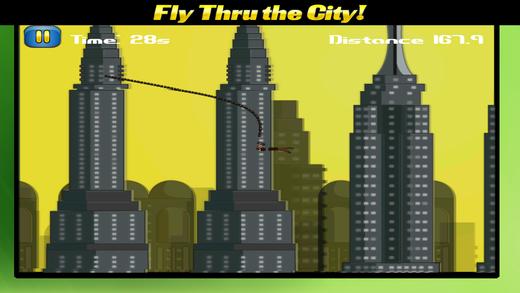 忍者飞英雄摇摆冒险 - 紧绳和Rapel直通城市免费