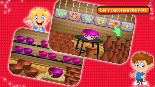 创建陶器和制造商 - 绘画游戏