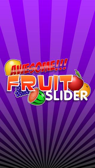 令人敬畏的水果滑塊自由 — — 匹配連接並由迪維樹飛濺的果凍水果、 水龍頭和幻燈片