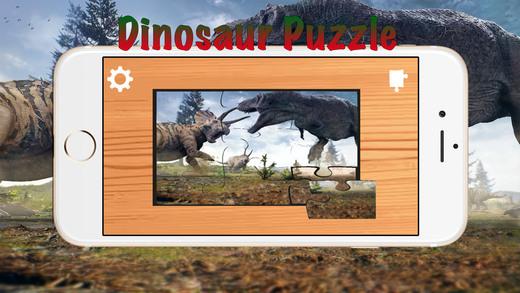 恐龙 : 儿童益智游戏 , 恐龙拼图游戏的孩子和幼儿
