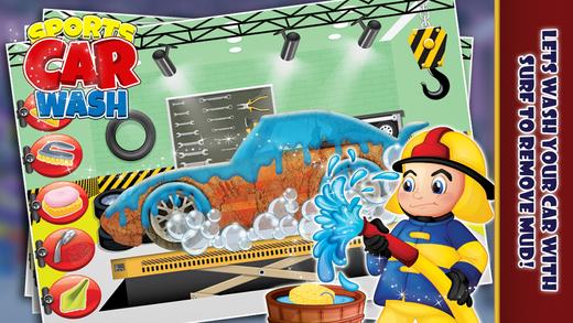 体育洗车 - 维修和清理车辆在这个沙龙温泉游戏的孩子