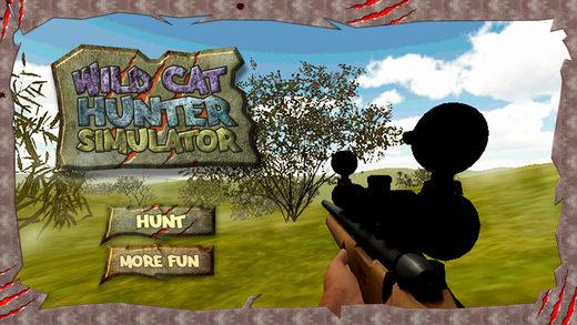 野生猫科动物的猎人模拟器 - 大通击落动物在此拍摄模拟游戏