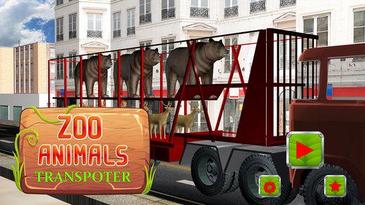 动物园动物转运 - 城市卡车模拟器3d