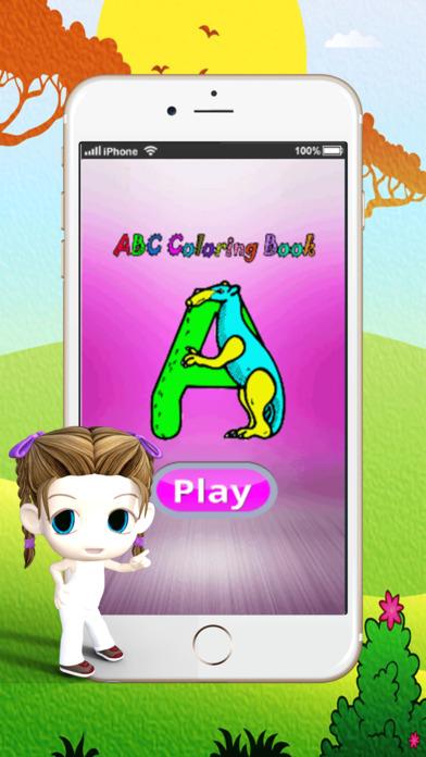 ABC绘制垫 : 学习绘画和绘图着色页面可打印为孩子们免费