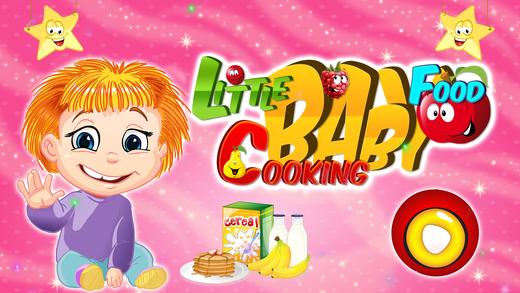 小婴儿食品烹饪-make食品和饲料的婴儿