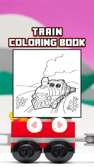 火车着色页地铁绘画绘图游戏