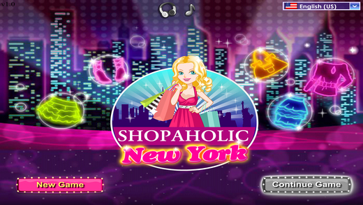 纽约购物狂 — 购物 化妆 装扮游戏