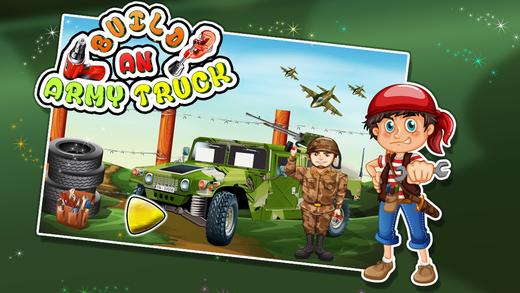 建立一支军队卡车 - 构建与修复的车辆在这个疯狂的机械游戏的孩子