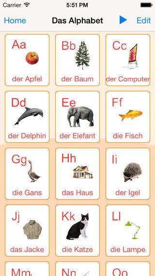 德国字母卡和测验