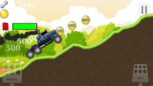 怪物卡车爬山赛车