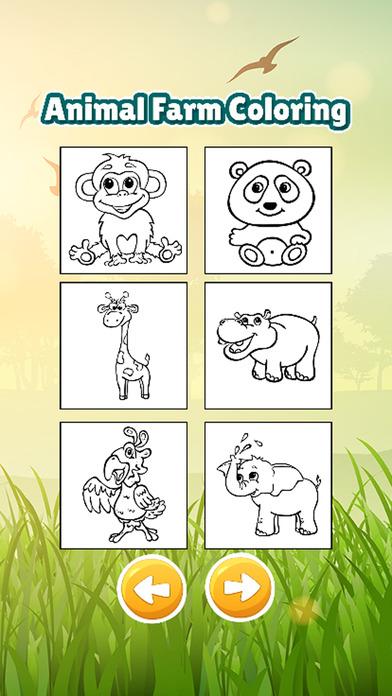 动物农场图画书游戏的孩子