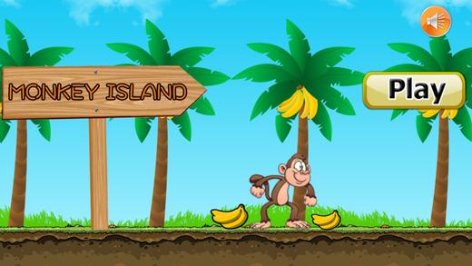 猴子冒險 - 跑收集香蕉午餐