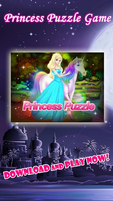 有趣的教育公主拼图拼图在粉红色的年轻女孩的仙境