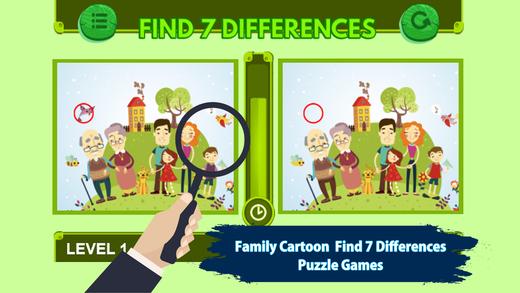 家庭卡通找到7差异游戏