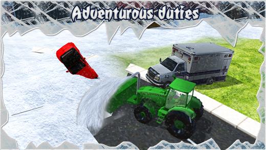 雪车卡车 - 真正的救援挖掘机