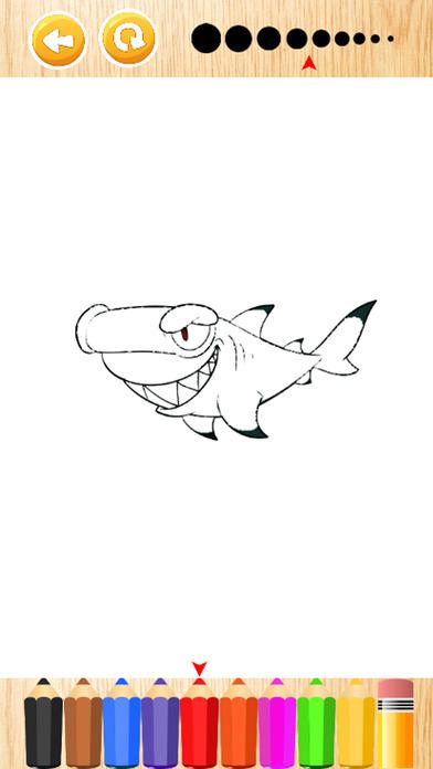 鲨鱼图画书为孩子们的游戏