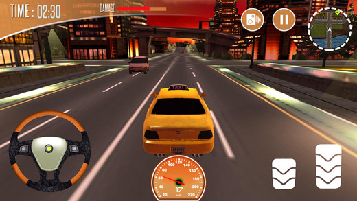 出租车模拟器 - 城市出租车司机在交通高峰