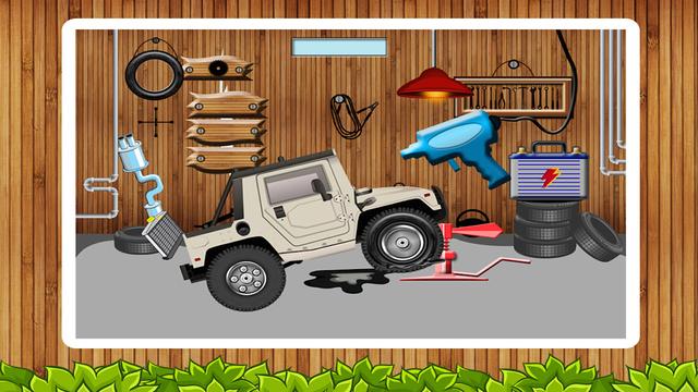 轮胎维修店 - 小孩车间游戏