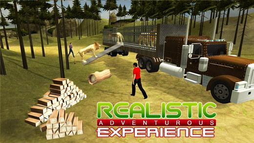 动物园动物运输卡车 - 这个驾驶模拟器游戏驾驶卡车运输
