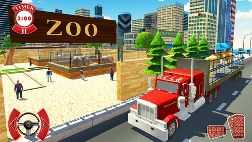 动物园动物运输卡车&驾驶sim
