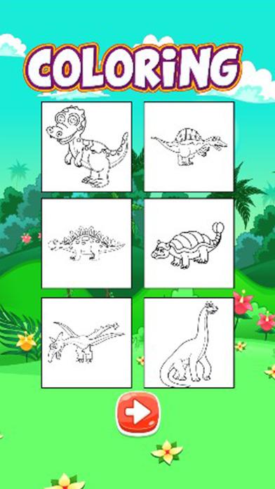 恐龙着色游戏七彩恐龙为孩子