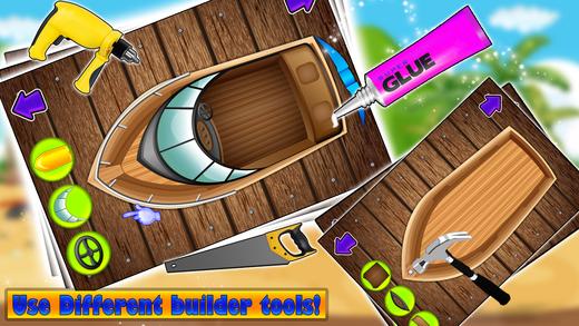 造一艘船 - 疯狂的建设者和机械车库游戏为孩子们