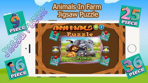 動物在農場拼圖