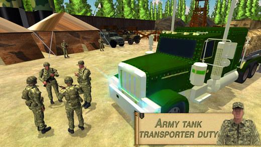 油罐运输车卡车 - 陆军货物配送SIM卡