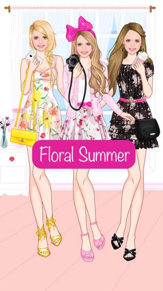 夏季碎花装扮游戏