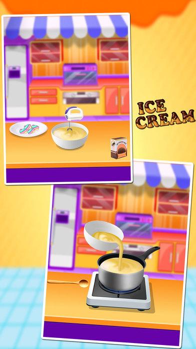 冷冻冰淇淋机自制烹饪食谱 - 烹饪游戏的孩子