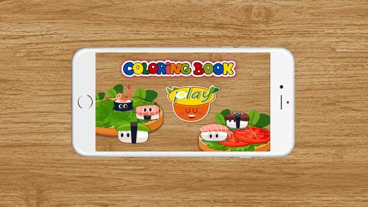 图画书(寿司):着色页与学习游戏为孩子们免费!